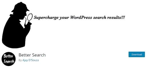 better WordPress Search System plugin