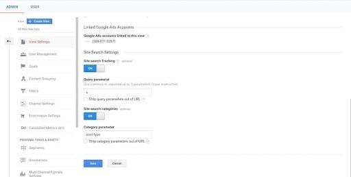 search data google analytics