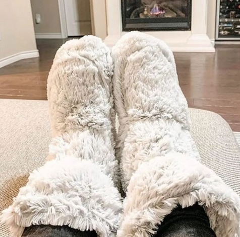 Warmies Marshmallow Heatable Boots only $29.99 shipped!