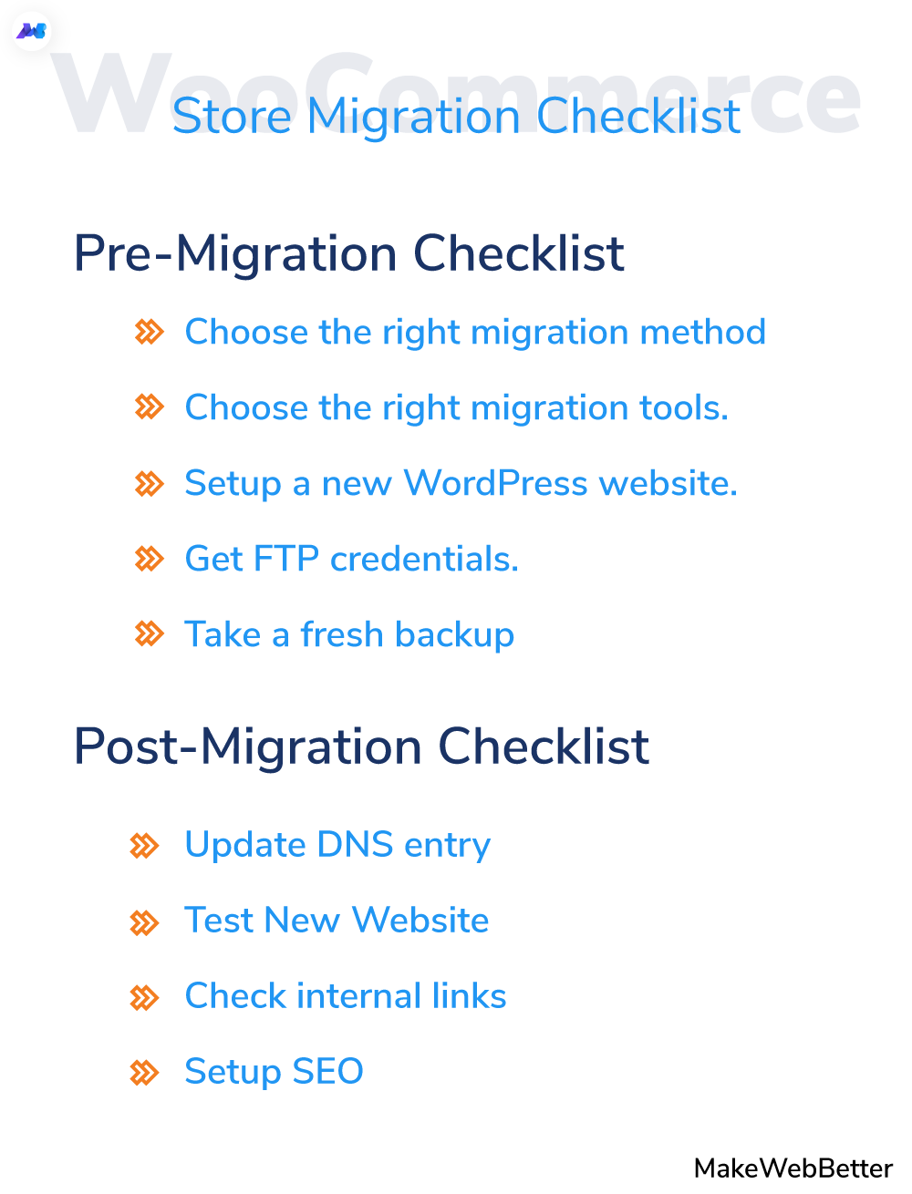 woocommerce migration checklist